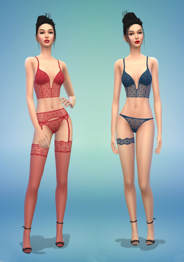 The sims 4 cc sexy lingerie set