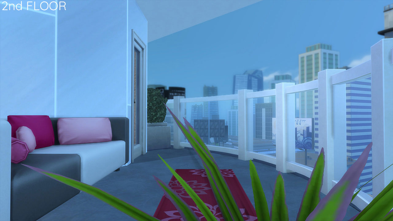 The sims 4 Apartment 701 balcony