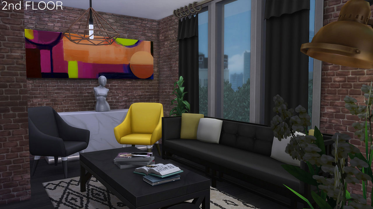 The sims 4 Apartment 701 living room