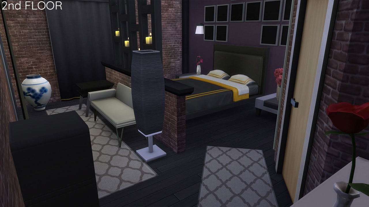 The sims 4 Apartment 701 bedroom