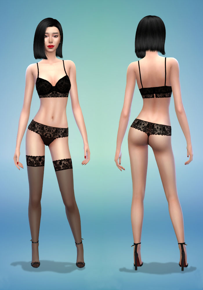 The sims 4 cc bra, Thong & V-String Panties and Hold-up Stockings