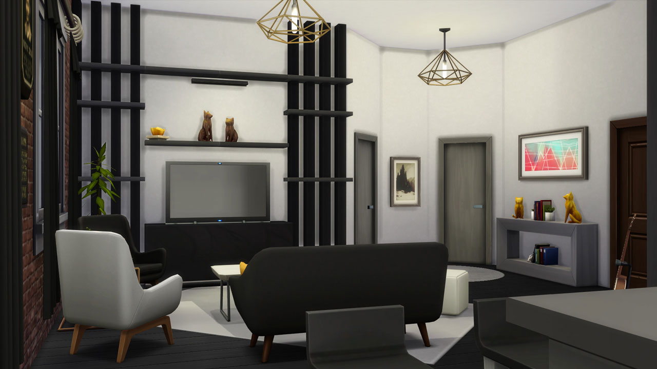 The sims 4 18 Culpepper House living room