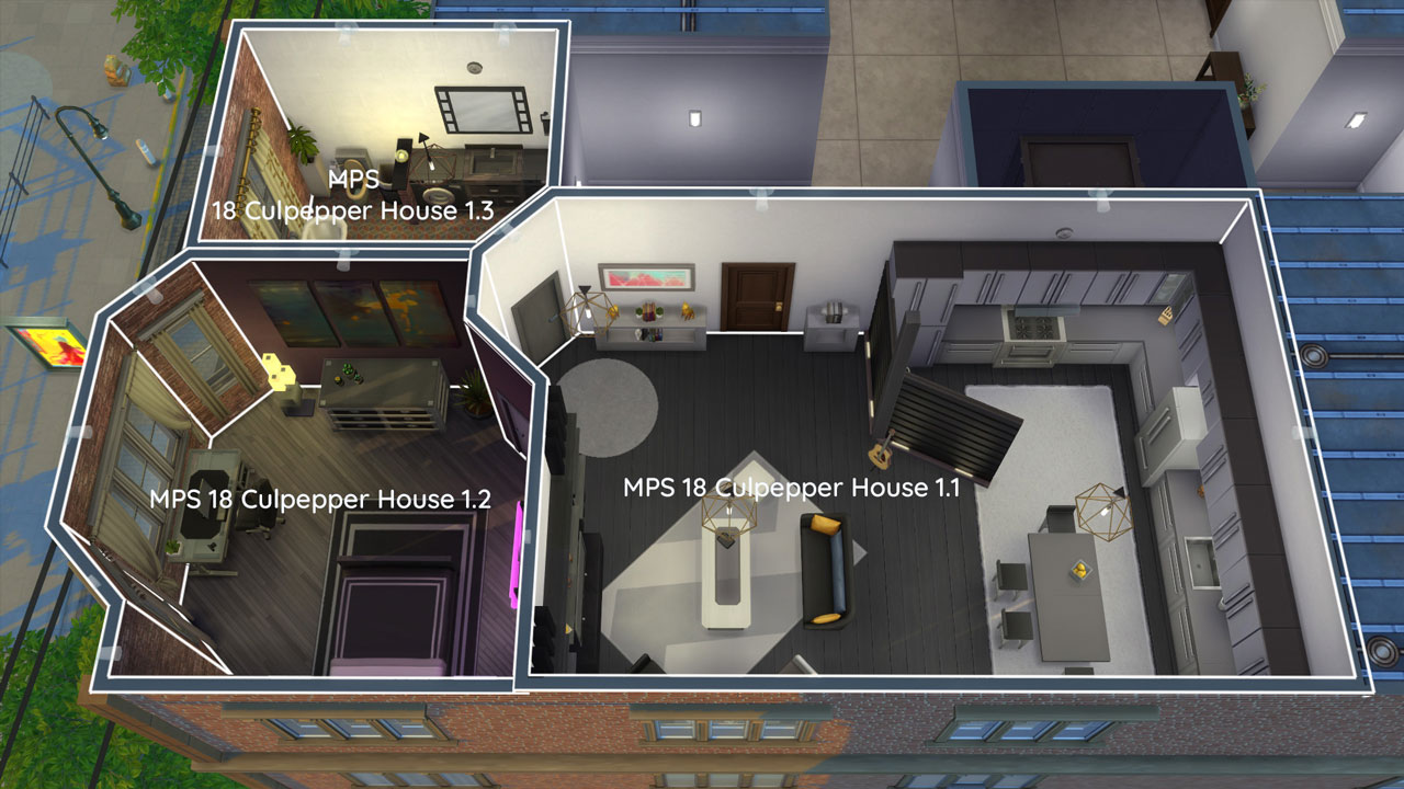The sims 4 18 Culpepper House rooms