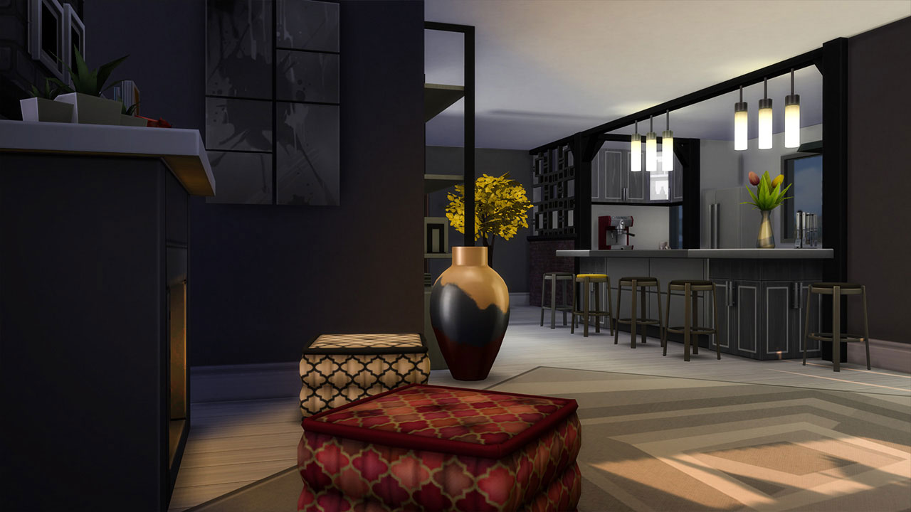 The sims 4 Apartment 702 ZenView living room