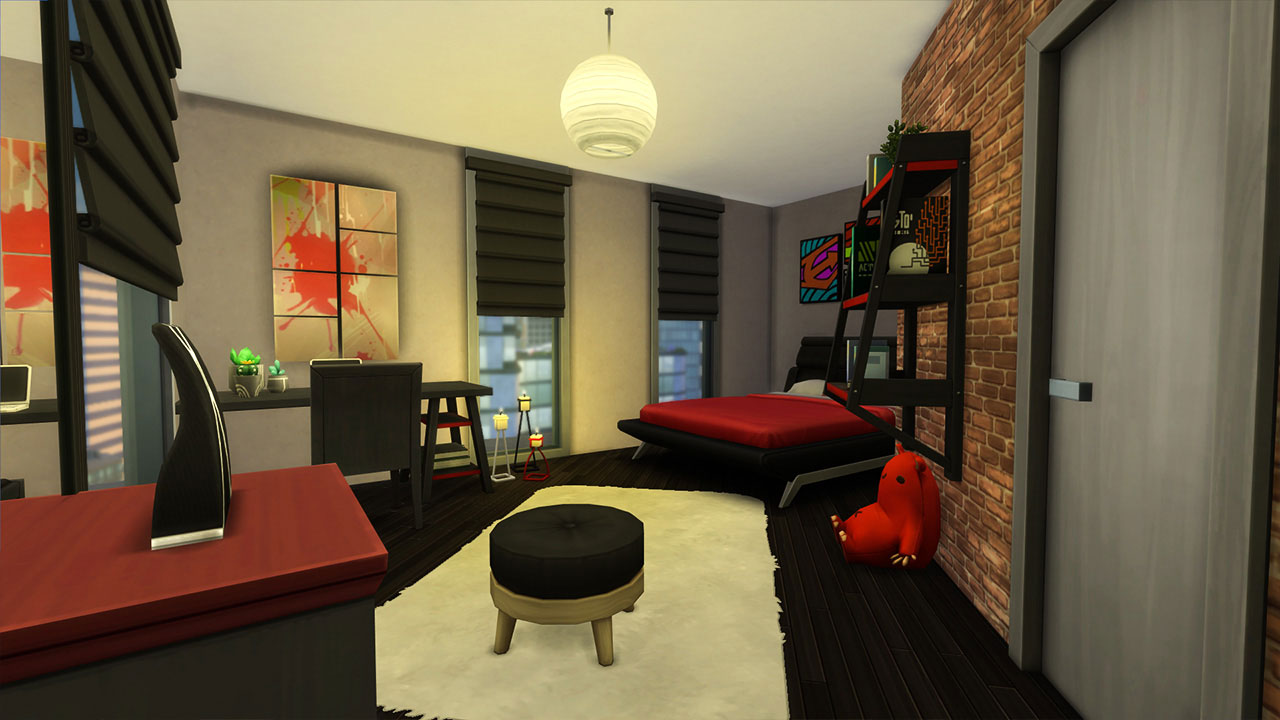 The sims 4 Apartment 702 ZenView young room