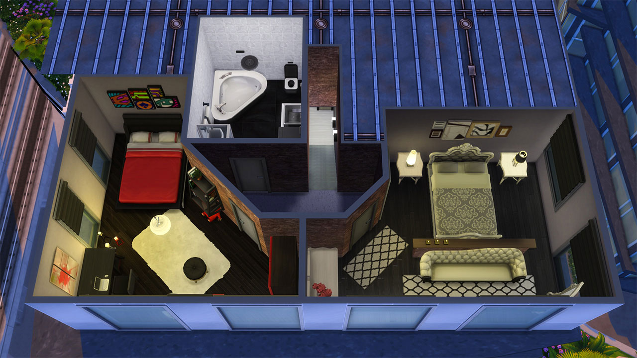 The sims 4 Apartment 702 ZenView 2nd floor plan