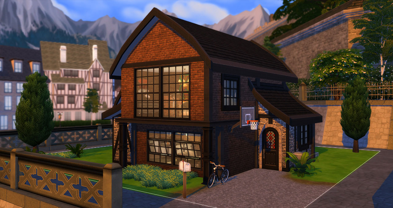 The sims 4 old brick house