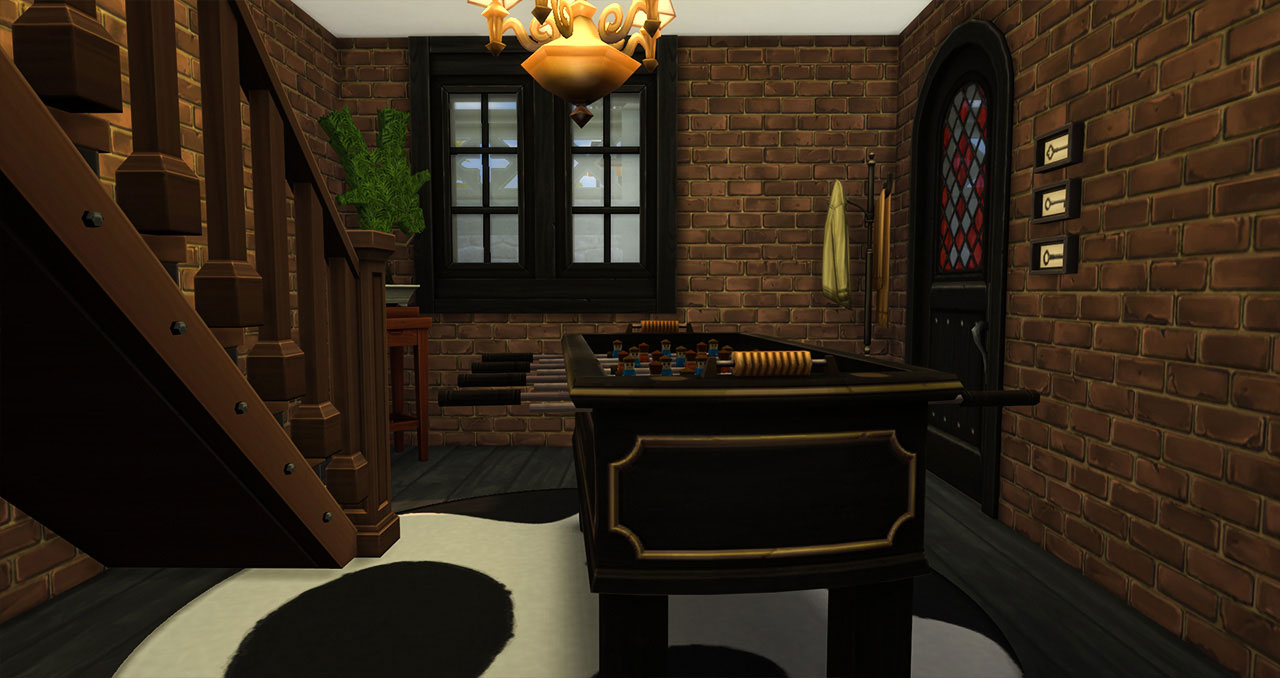 The sims 4 old brick house hall