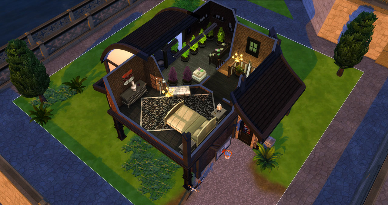 The sims 4 old brick house 2nd floor plan