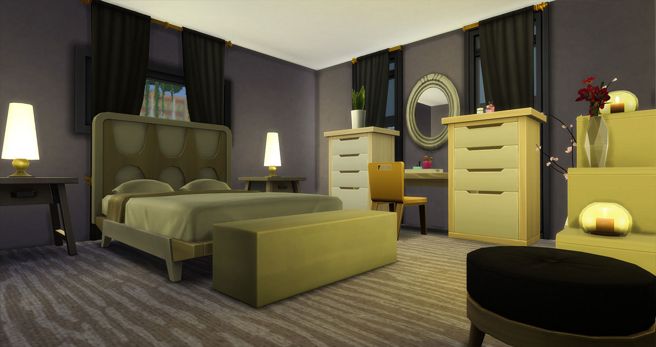 The Sims 4 furnished modern house bedroom