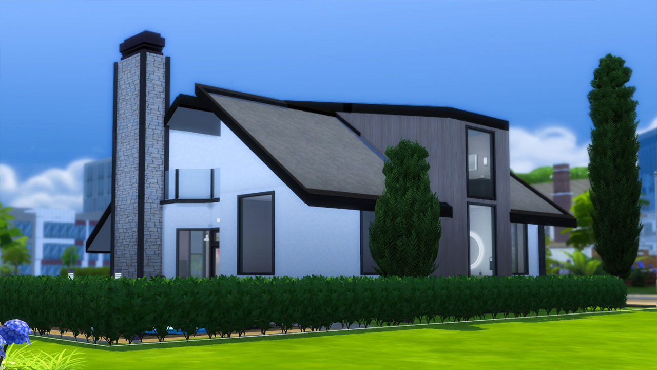 The Sims 4 modern house frontage