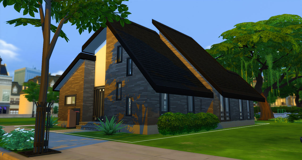 The Sims 4 furnished modern house