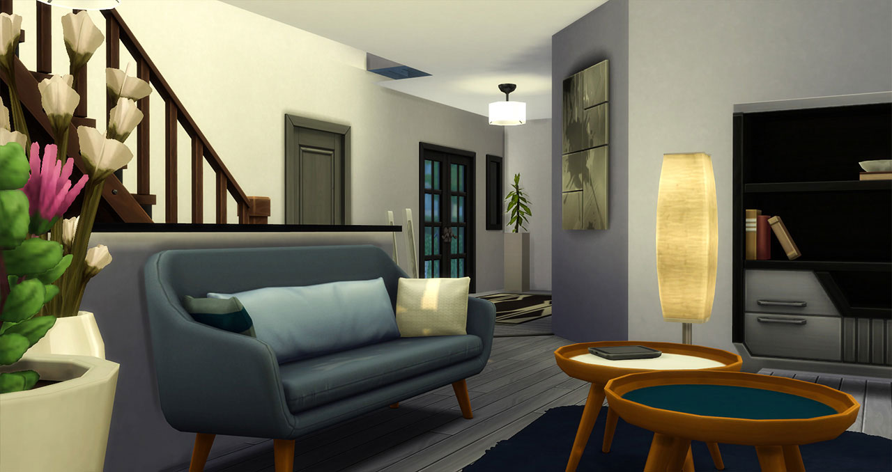 The Sims 4 furnished modern house living room