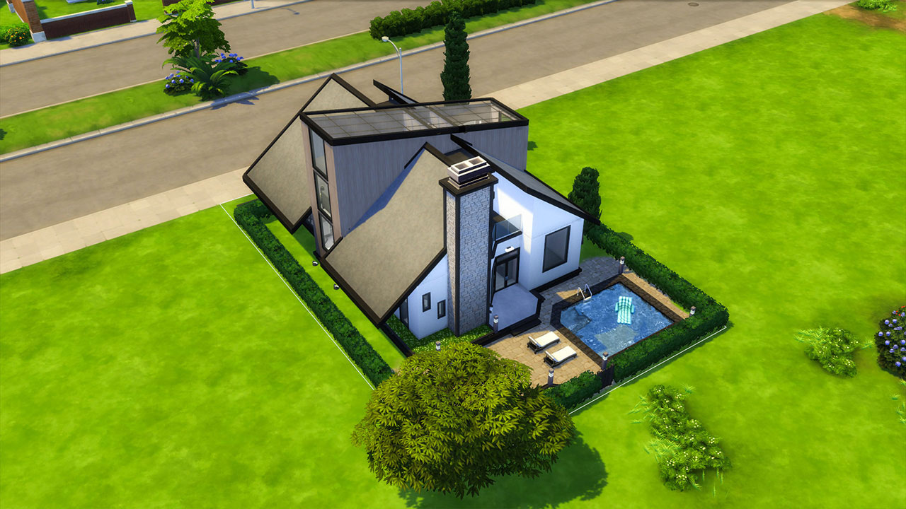 The Sims 4 modern house top view