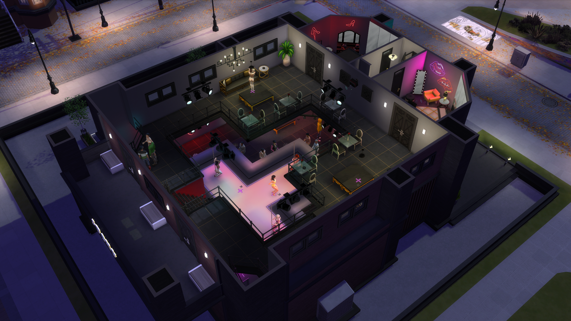 The sims 4 strip club lot second floor
