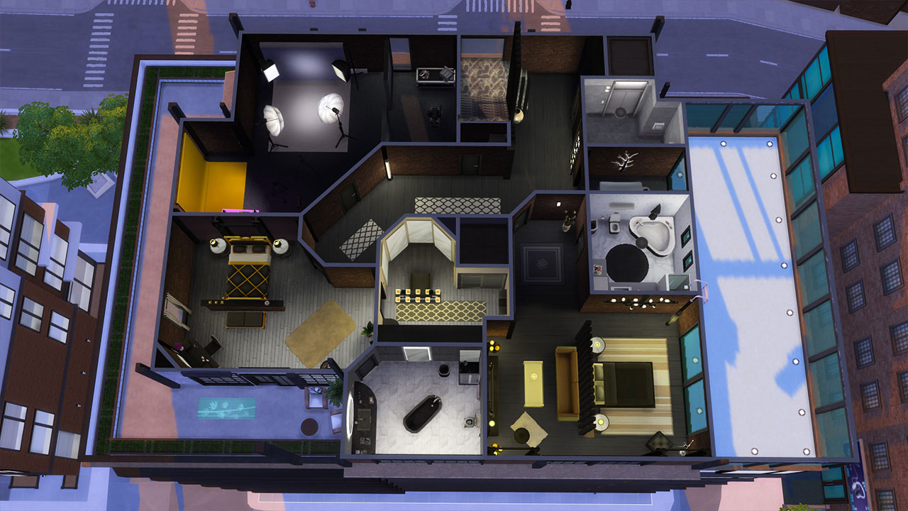 The sims 4 penthouse 1st floor plan