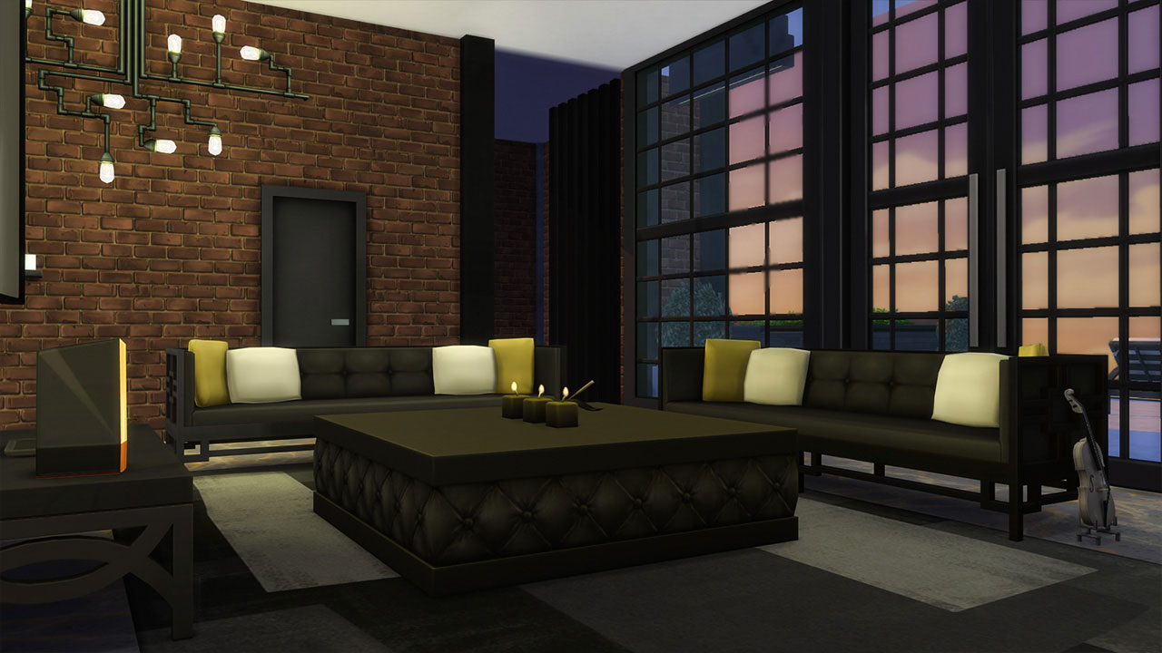 The sims 4 penthouse living room