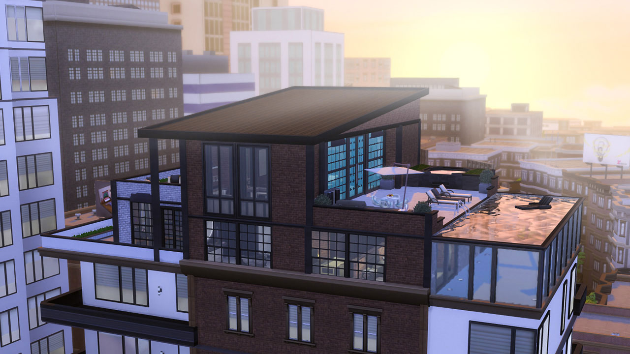 The sims 4 Fountainview Penthouse