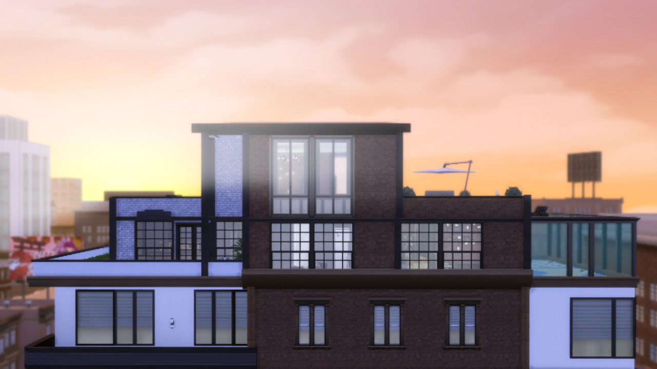 The sims 4 Fountainview Penthouse industrial style