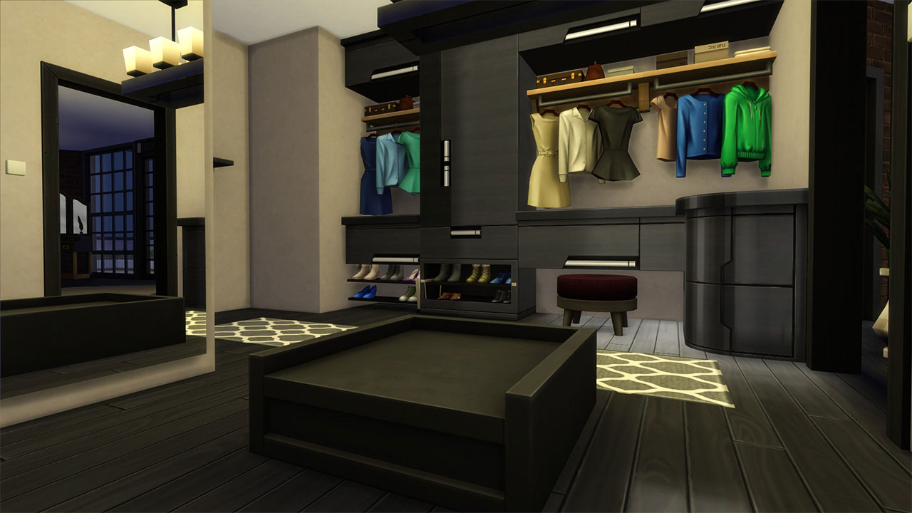The sims 4 penthouse dressing room