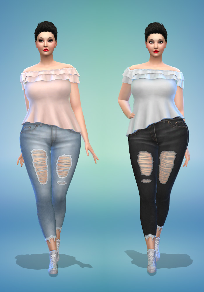The Sims 4 CC Skinny Jeans