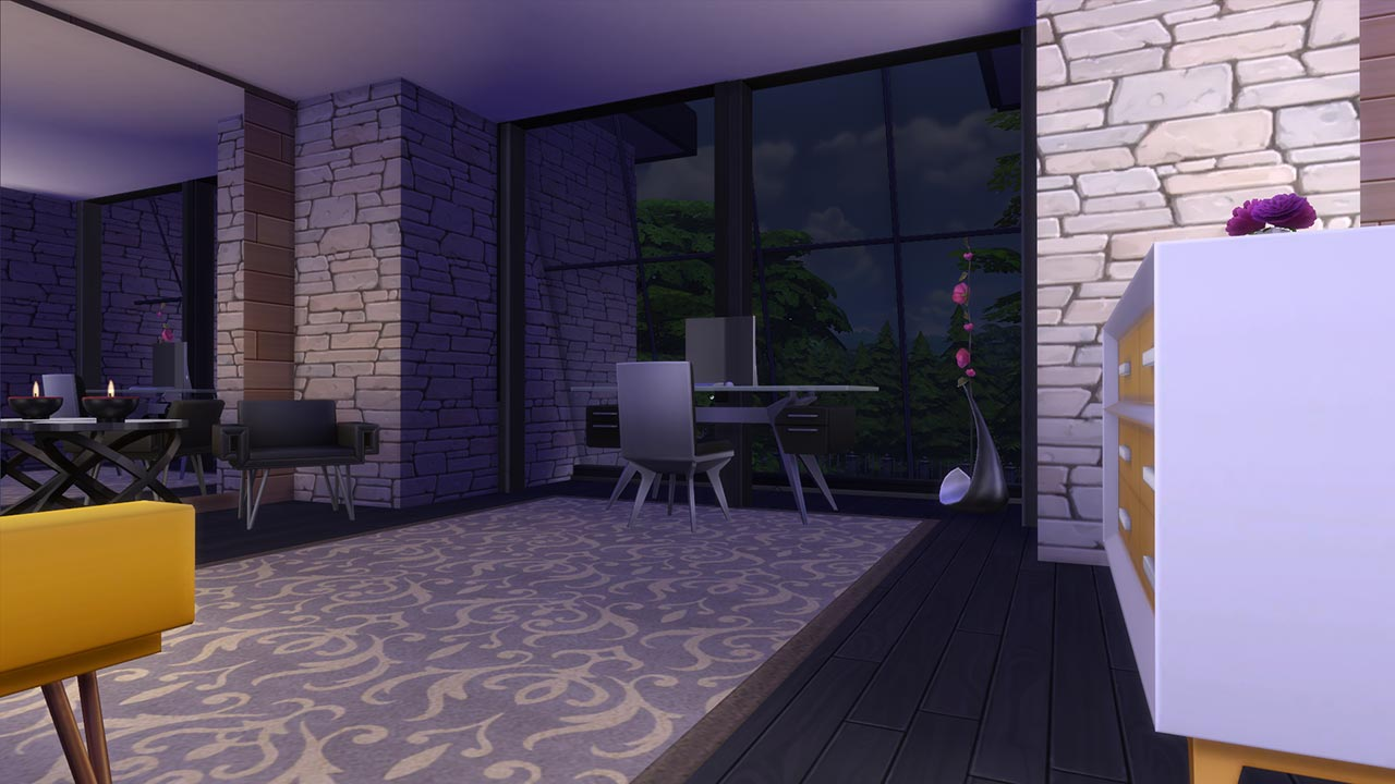The sims 4 modern villa study room