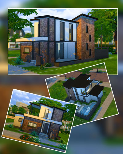 Small Modern Brick House