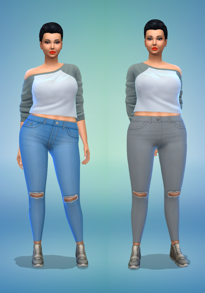 The sims 4 cc ripped jeans