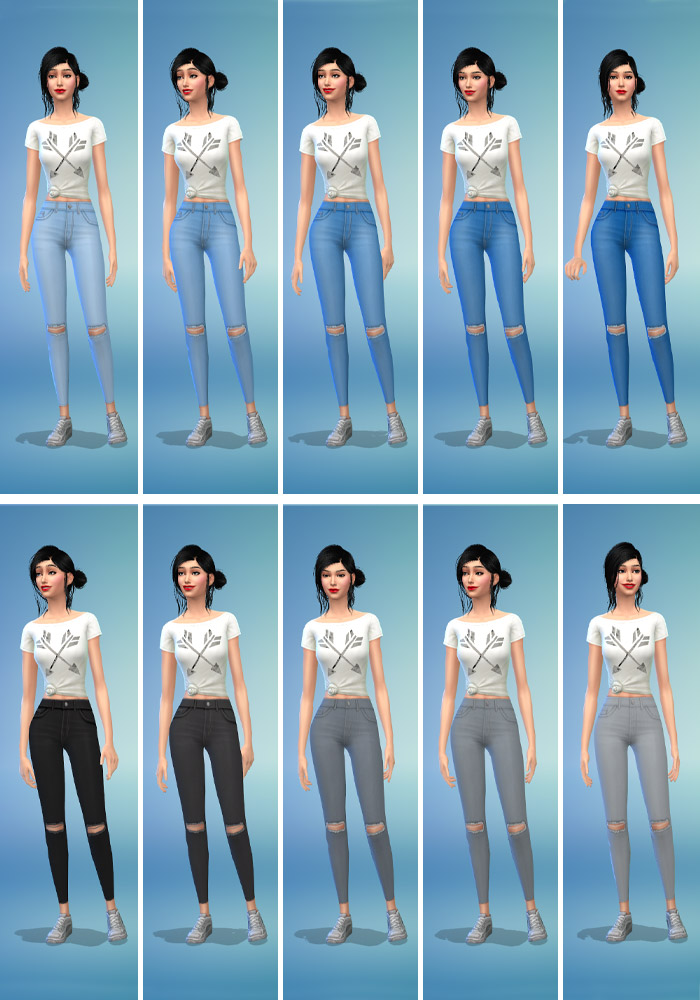 The sims 4 cc ripped jeans colors