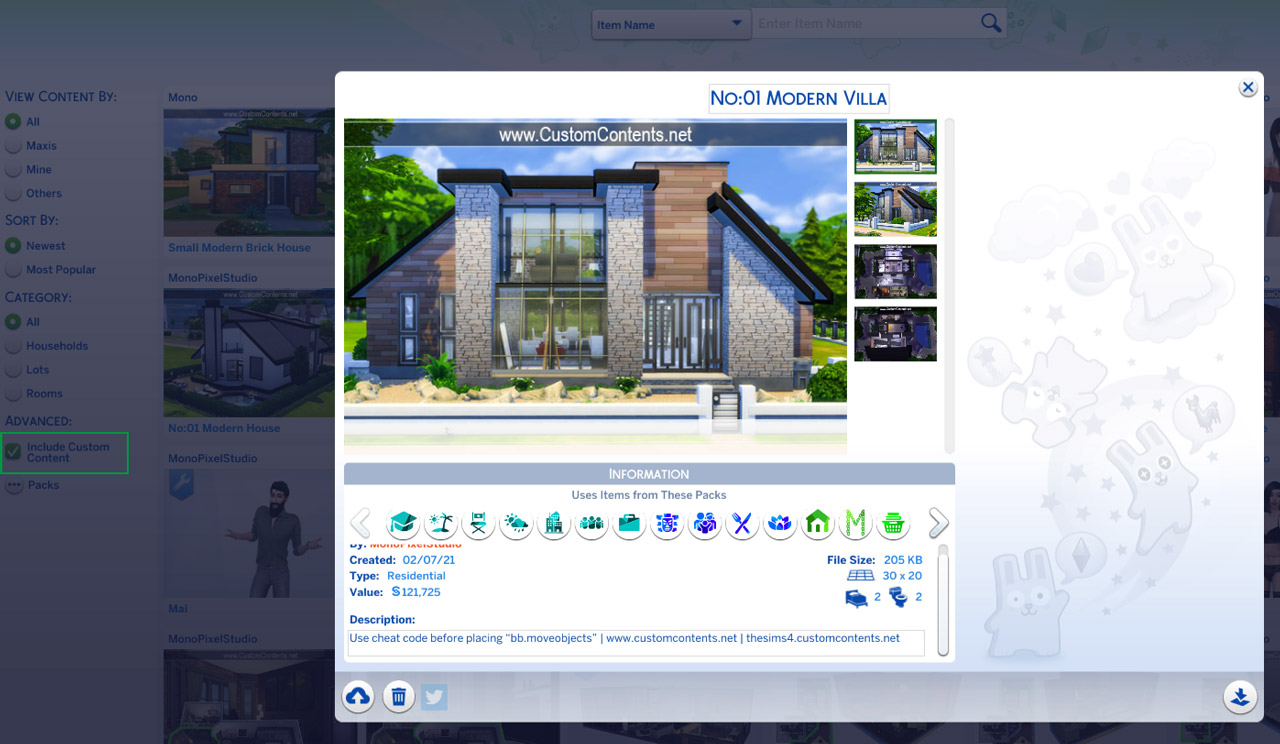 The sims 4 my library